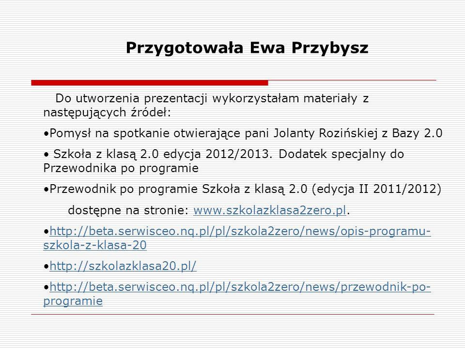 Przygotowała Ewa Przybysz