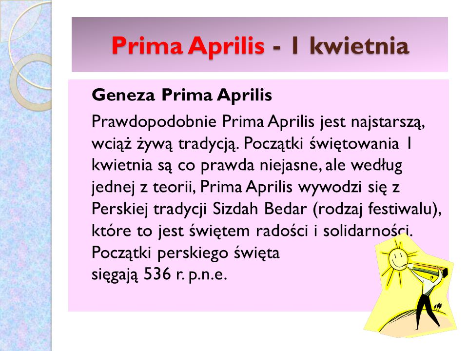 Prima Aprilis - 1 kwietnia