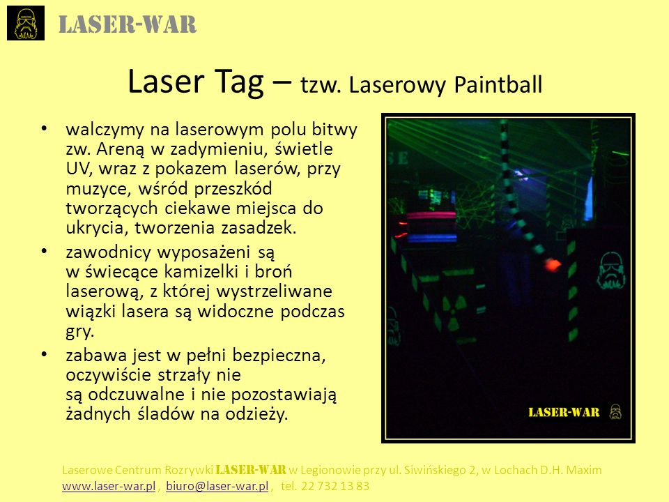 Laser Tag – tzw. Laserowy Paintball