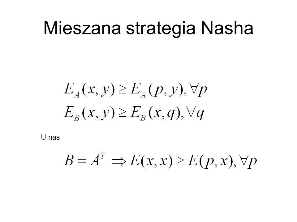 Mieszana strategia Nasha