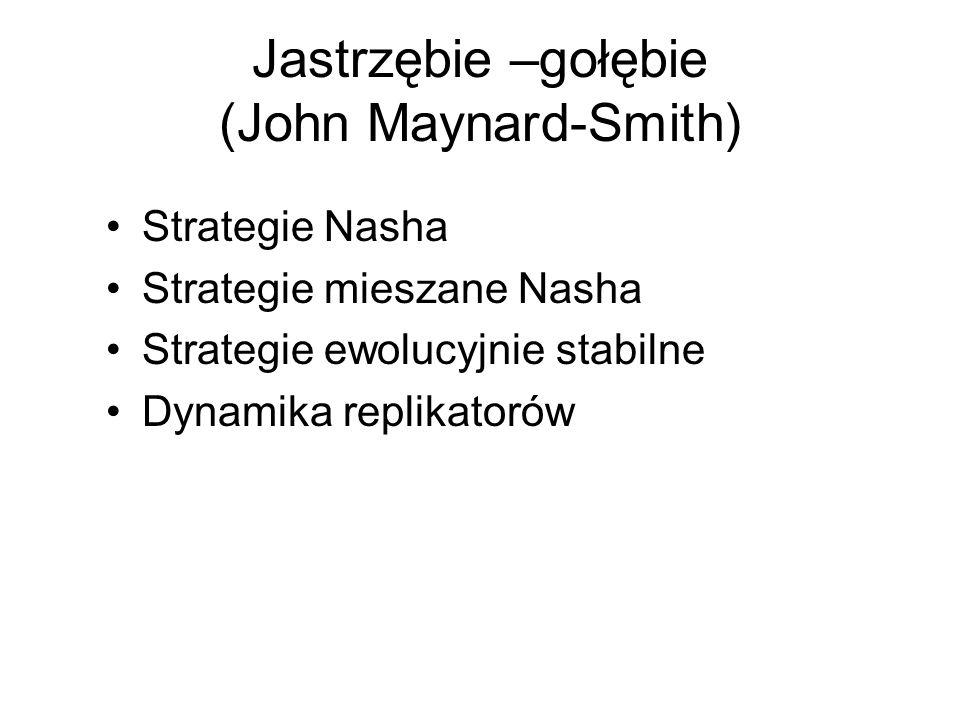 Jastrzębie –gołębie (John Maynard-Smith)