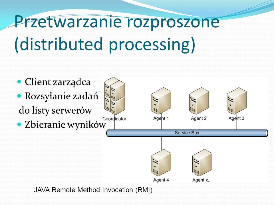 Przetwarzanie rozproszone (distributed processing)