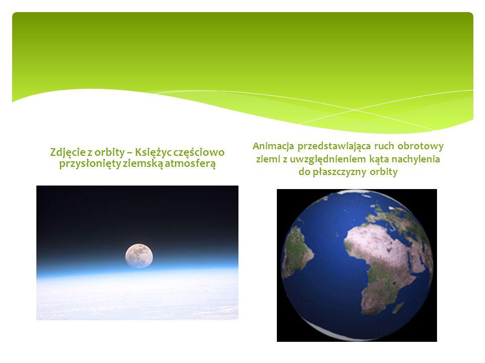 Zdjęcie z orbity – Księżyc częściowo przysłonięty ziemską atmosferą