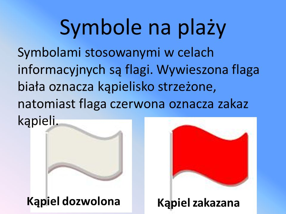 Symbole na plaży