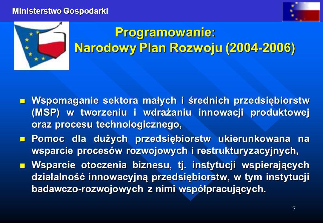 Programowanie: Narodowy Plan Rozwoju (2004-2006)