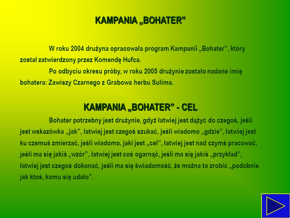 "KAMPANIA ""BOHATER - CEL"