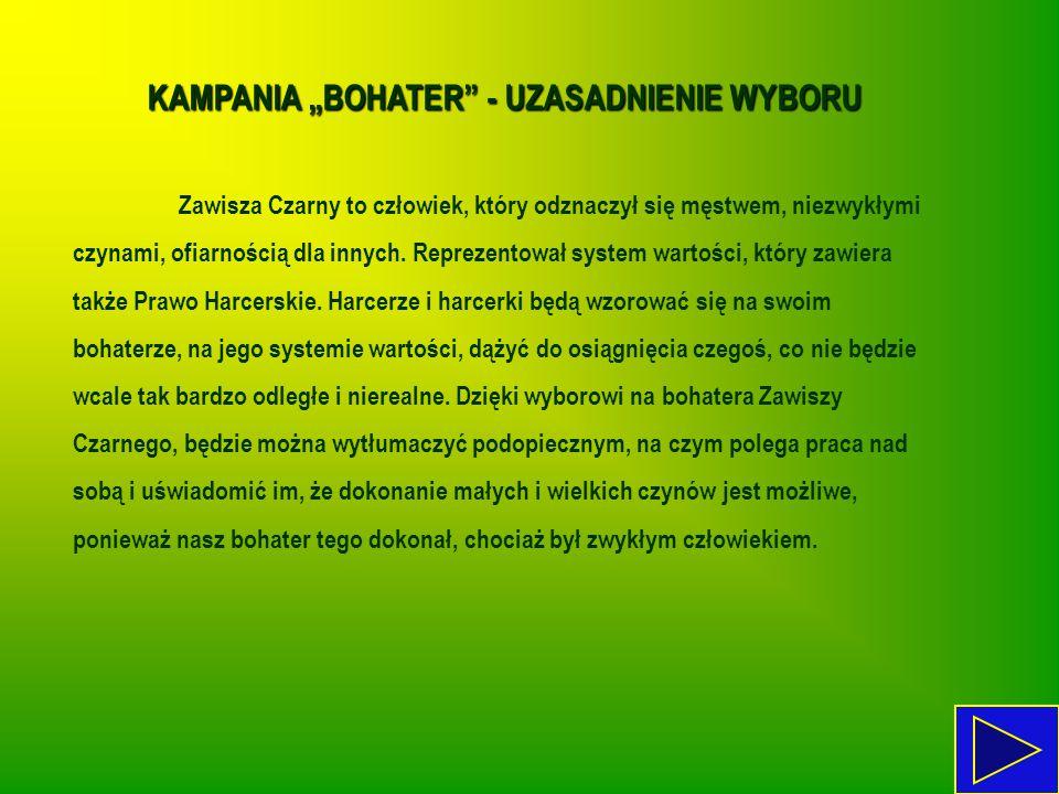 """KAMPANIA """"BOHATER - UZASADNIENIE WYBORU"""