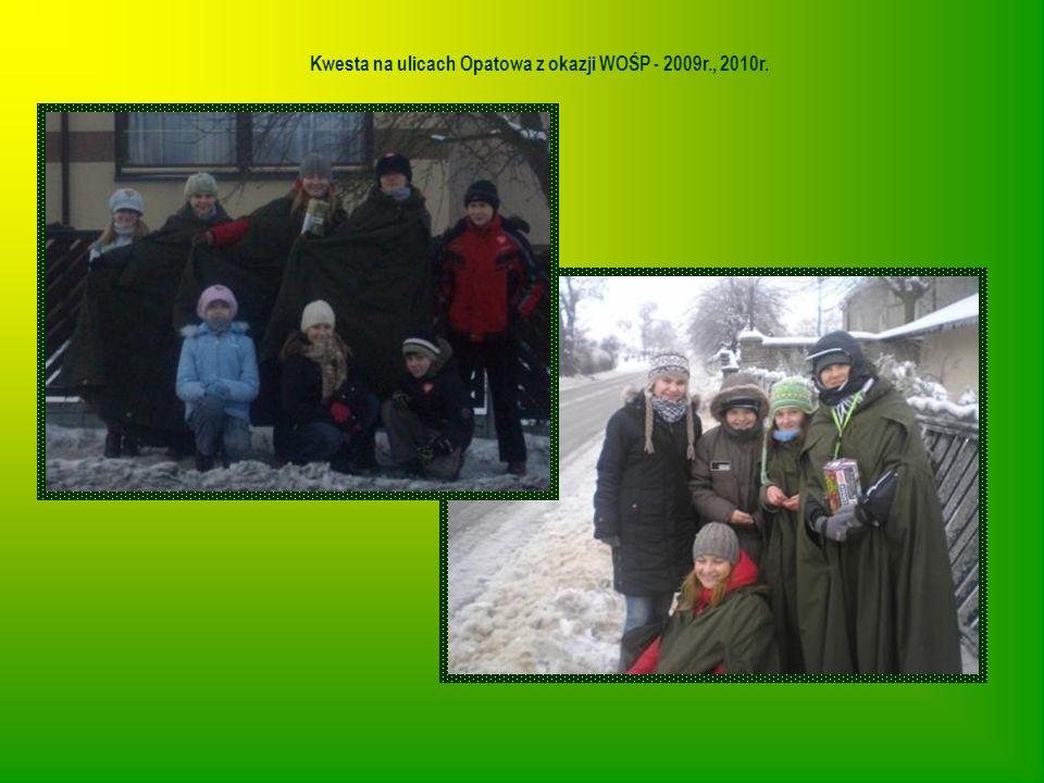 Kwesta na ulicach Opatowa z okazji WOŚP - 2009r., 2010r.