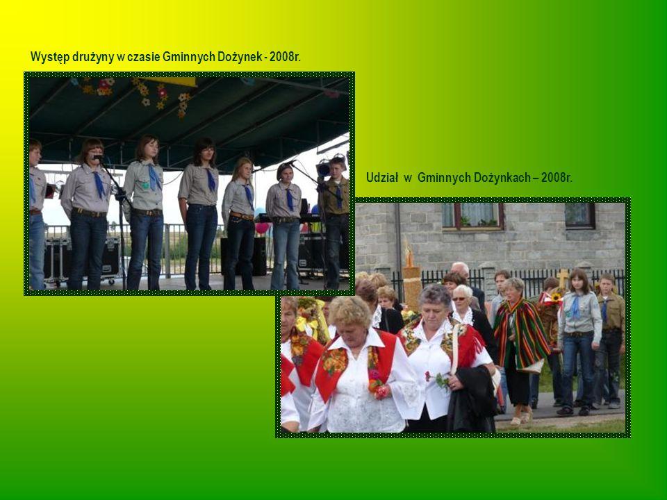 Występ drużyny w czasie Gminnych Dożynek - 2008r.