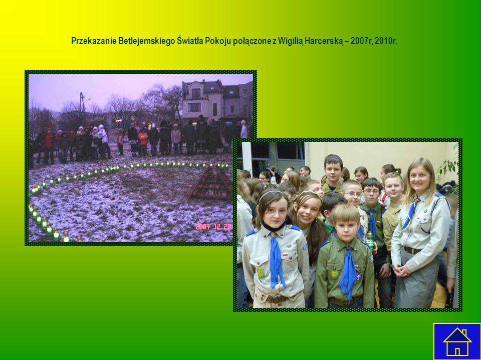 Przekazanie Betlejemskiego Światła Pokoju połączone z Wigilią Harcerską – 2007r, 2010r.
