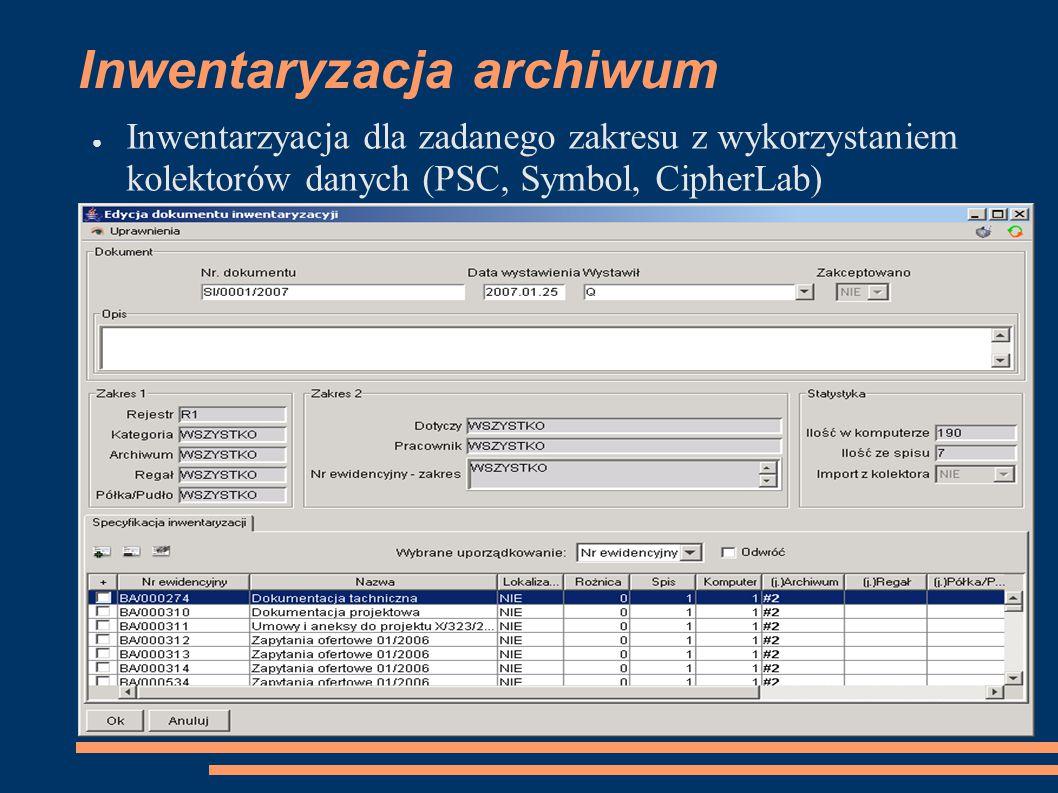 Inwentaryzacja archiwum