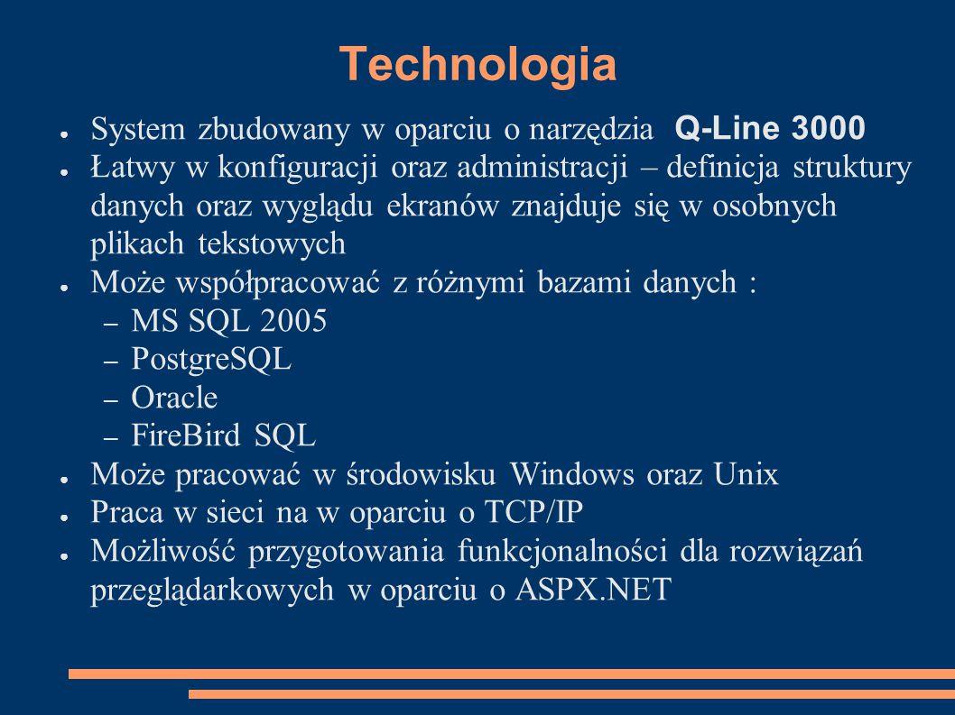 Technologia System zbudowany w oparciu o narzędzia Q-Line 3000