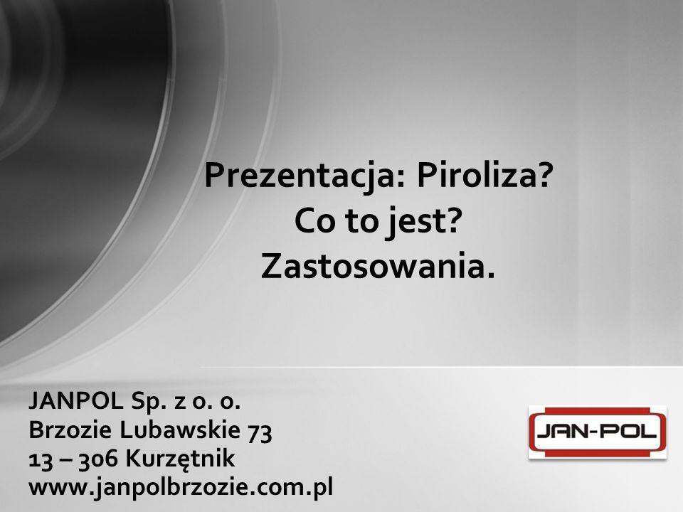 Prezentacja: Piroliza Co to jest Zastosowania.