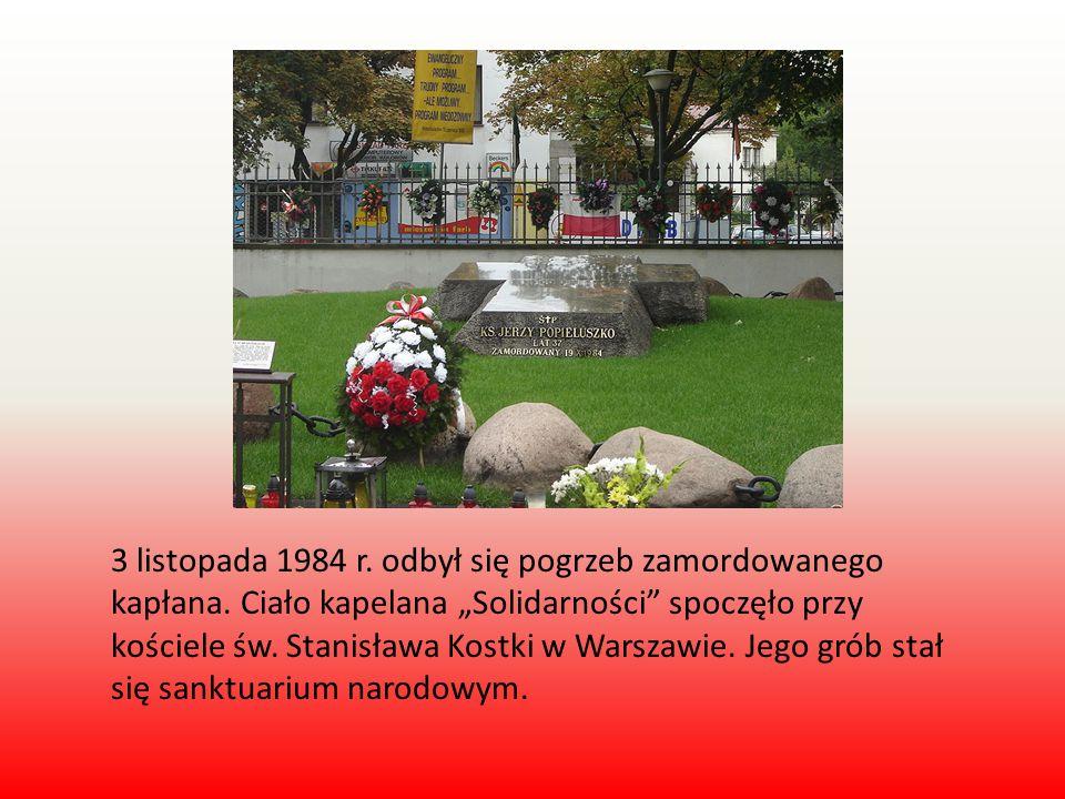3 listopada 1984 r. odbył się pogrzeb zamordowanego kapłana