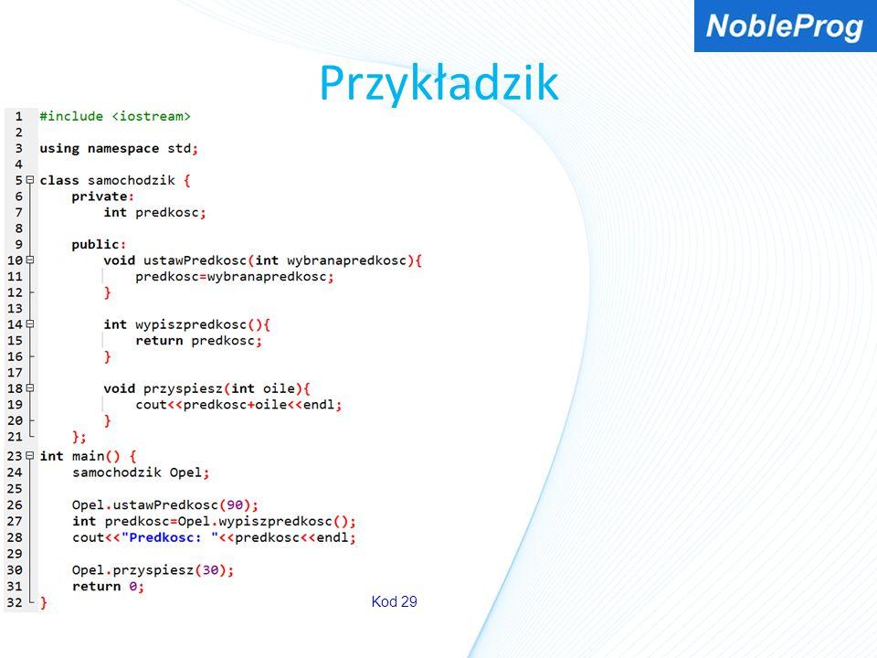 Przykładzik Kod 29