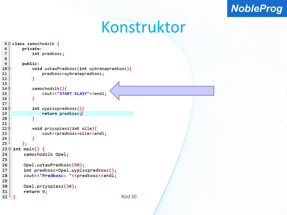 Konstruktor Kod 30