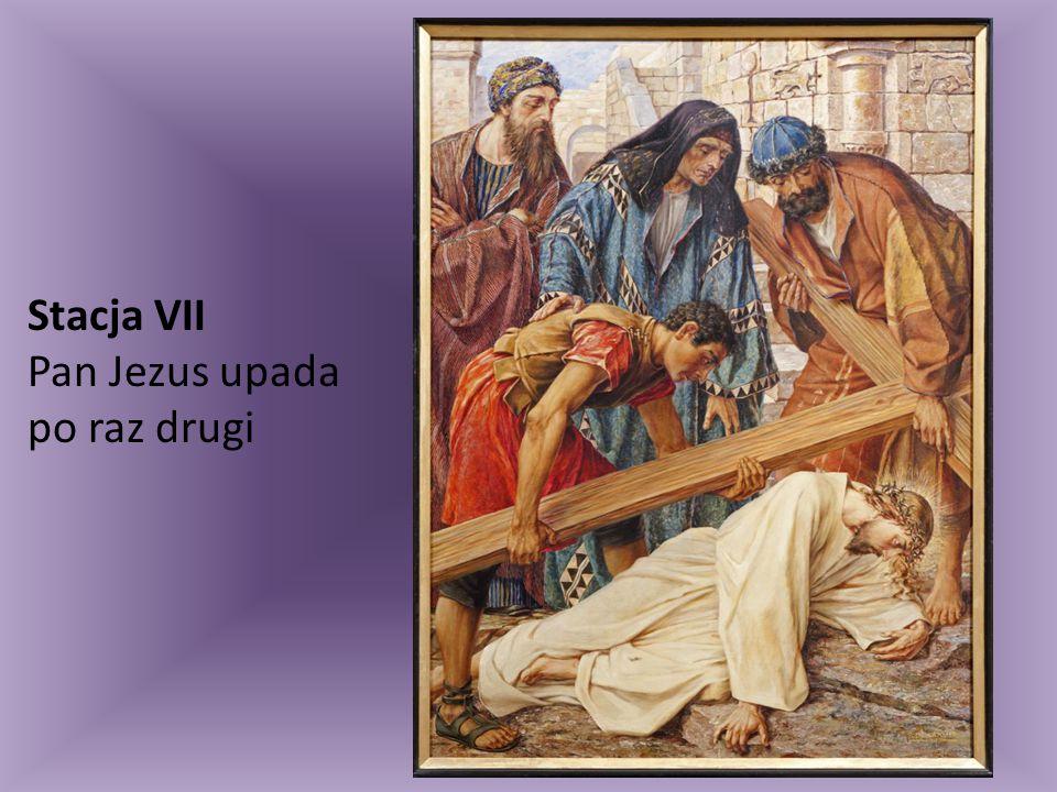 Stacja VII Pan Jezus upada po raz drugi