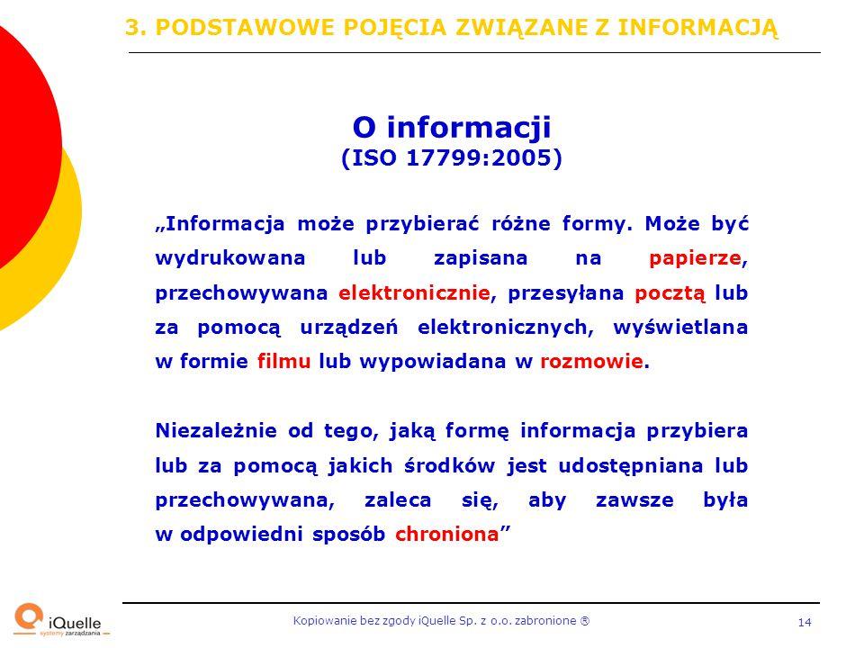 O informacji 3. PODSTAWOWE POJĘCIA ZWIĄZANE Z INFORMACJĄ