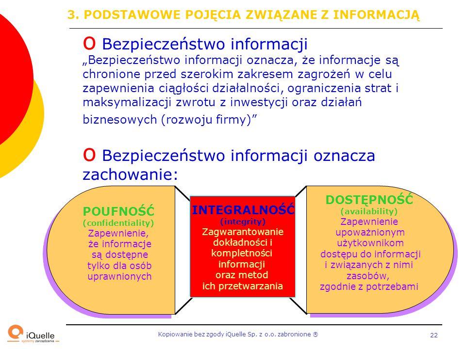 POUFNOŚĆ (confidentiality) INTEGRALNOŚĆ (integrity)