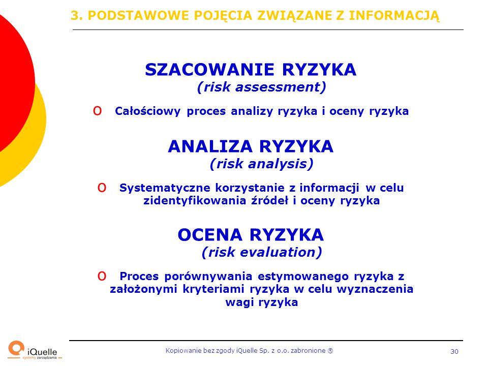SZACOWANIE RYZYKA (risk assessment)