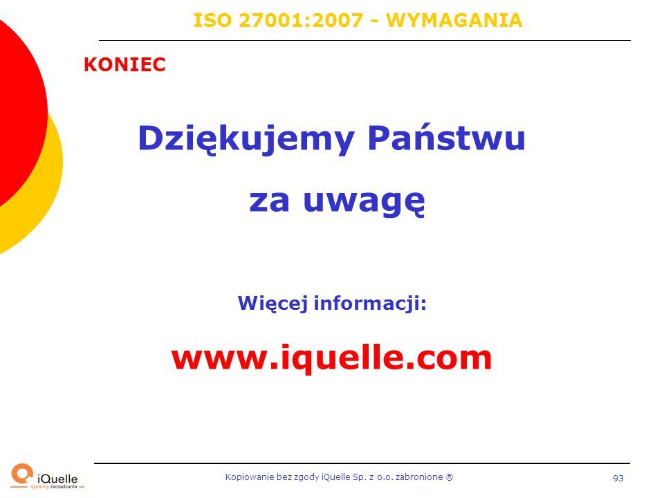 Dziękujemy Państwu za uwagę Więcej informacji: www.iquelle.com