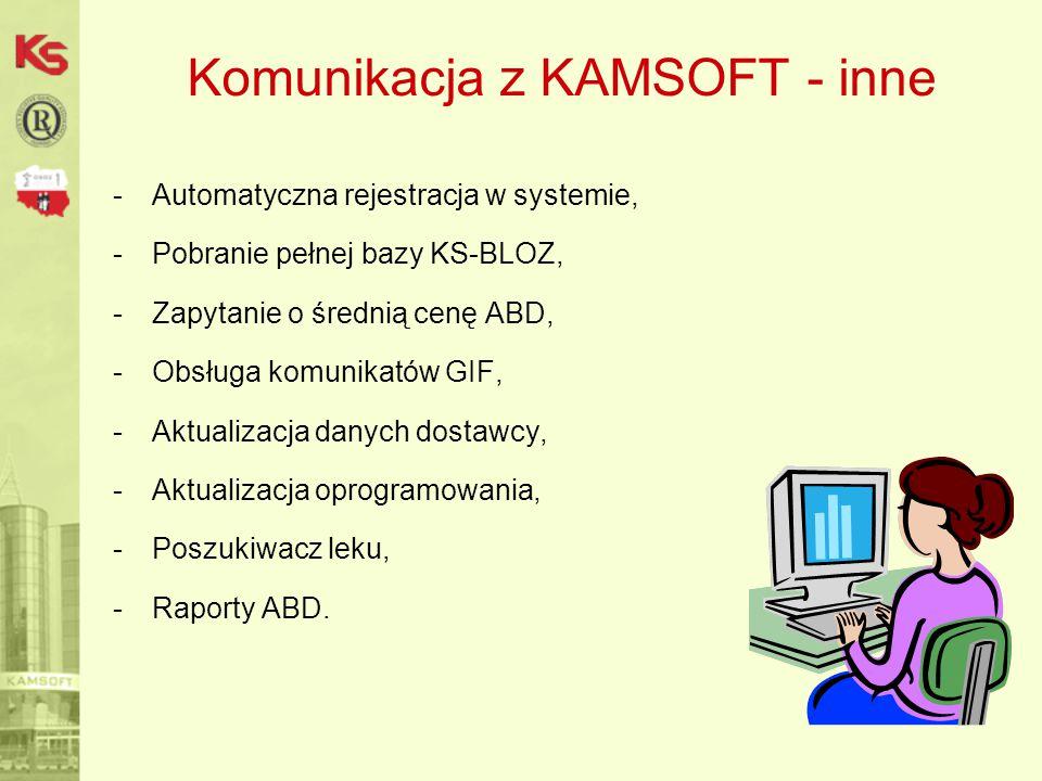 Komunikacja z KAMSOFT - inne