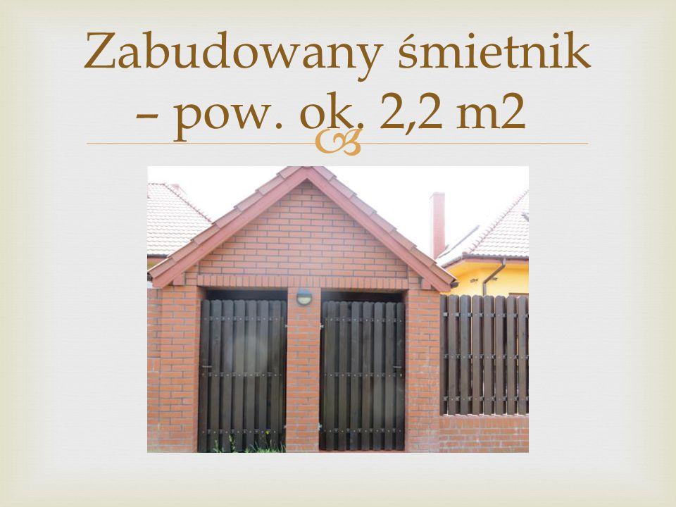 Zabudowany śmietnik – pow. ok. 2,2 m2