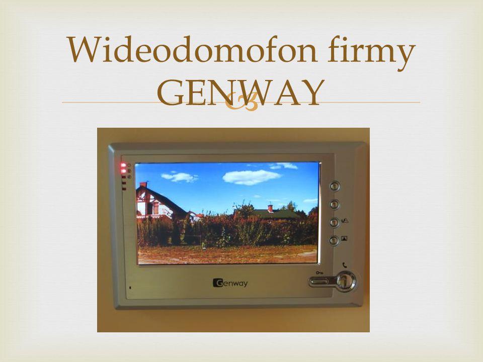 Wideodomofon firmy GENWAY