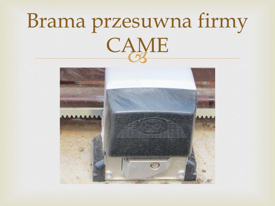 Brama przesuwna firmy CAME