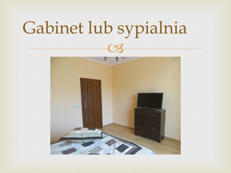 Gabinet lub sypialnia