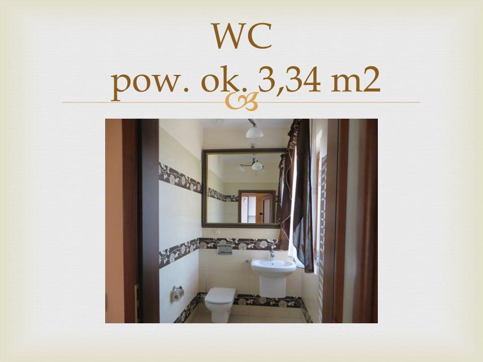 WC pow. ok. 3,34 m2