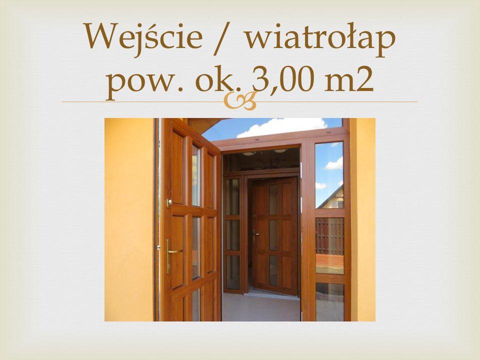 Wejście / wiatrołap pow. ok. 3,00 m2