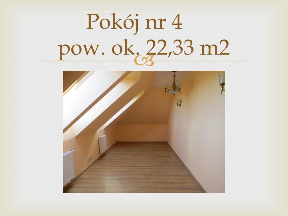 Pokój nr 4 pow. ok. 22,33 m2