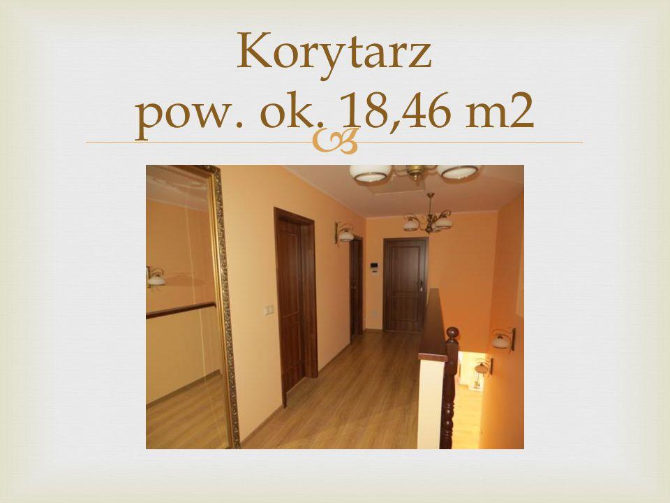 Korytarz pow. ok. 18,46 m2