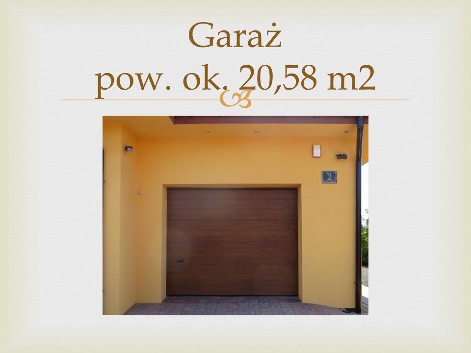 Garaż pow. ok. 20,58 m2