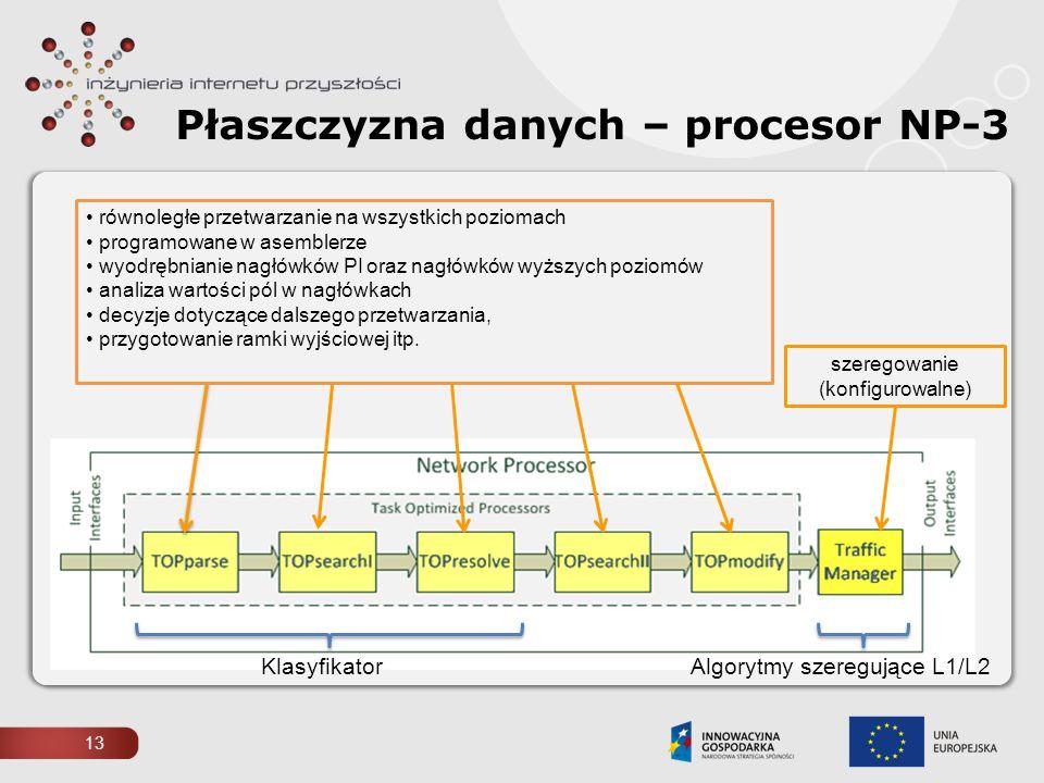 Płaszczyzna danych – procesor NP-3