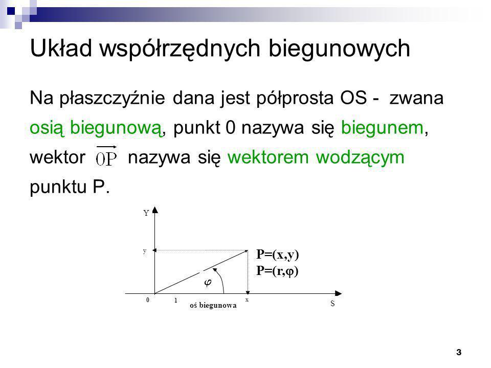 Układ współrzędnych biegunowych