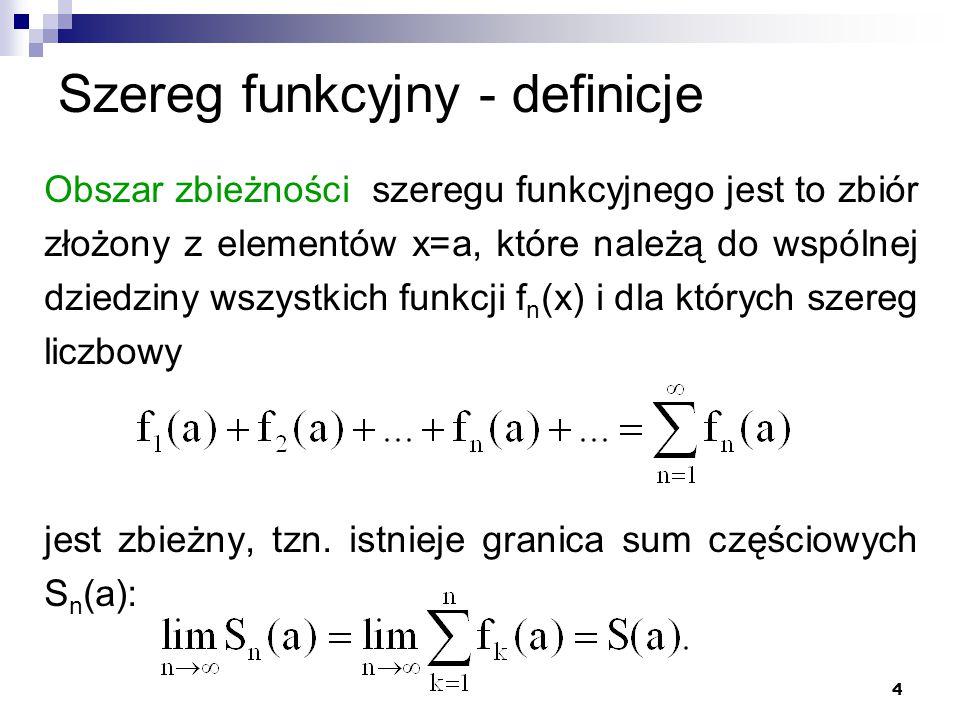 Szereg funkcyjny - definicje