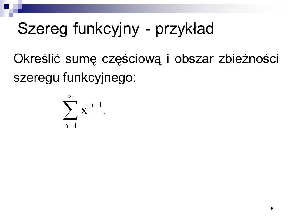 Szereg funkcyjny - przykład