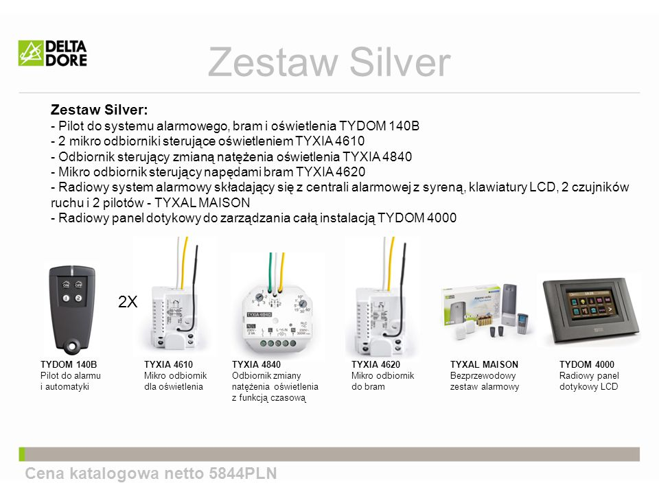 Zestaw Silver 2X Cena katalogowa netto 5844PLN Zestaw Silver: