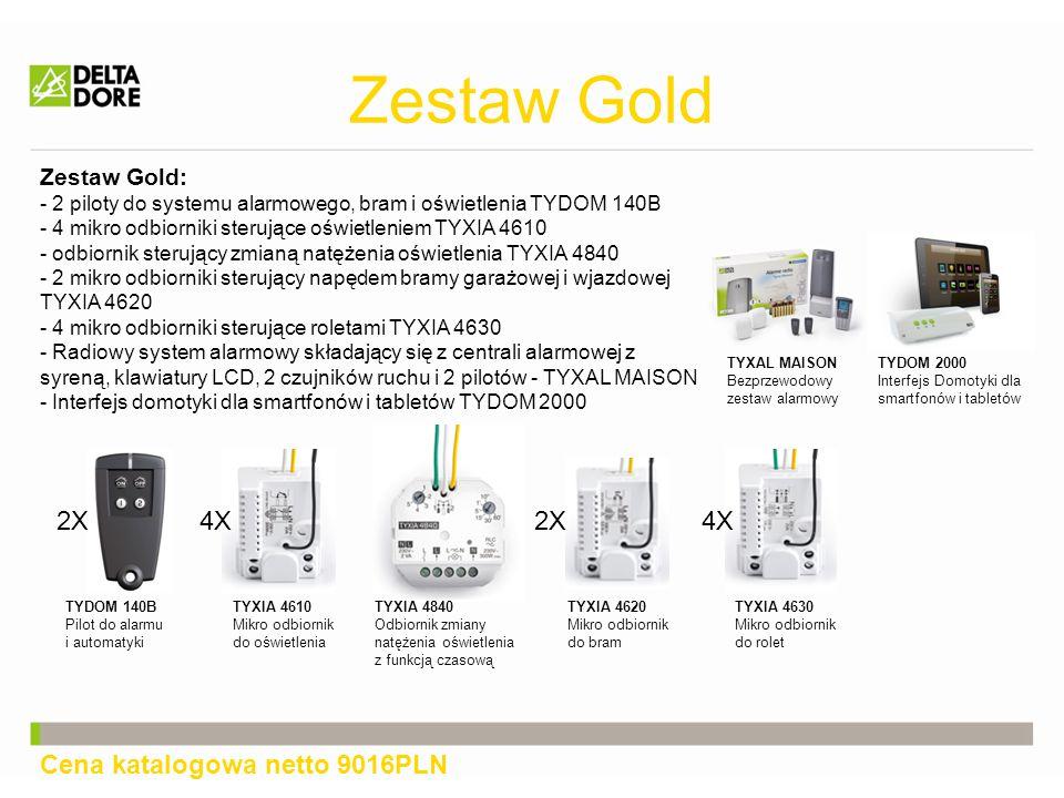 Zestaw Gold 2X 4X 2X 4X Cena katalogowa netto 9016PLN Zestaw Gold:
