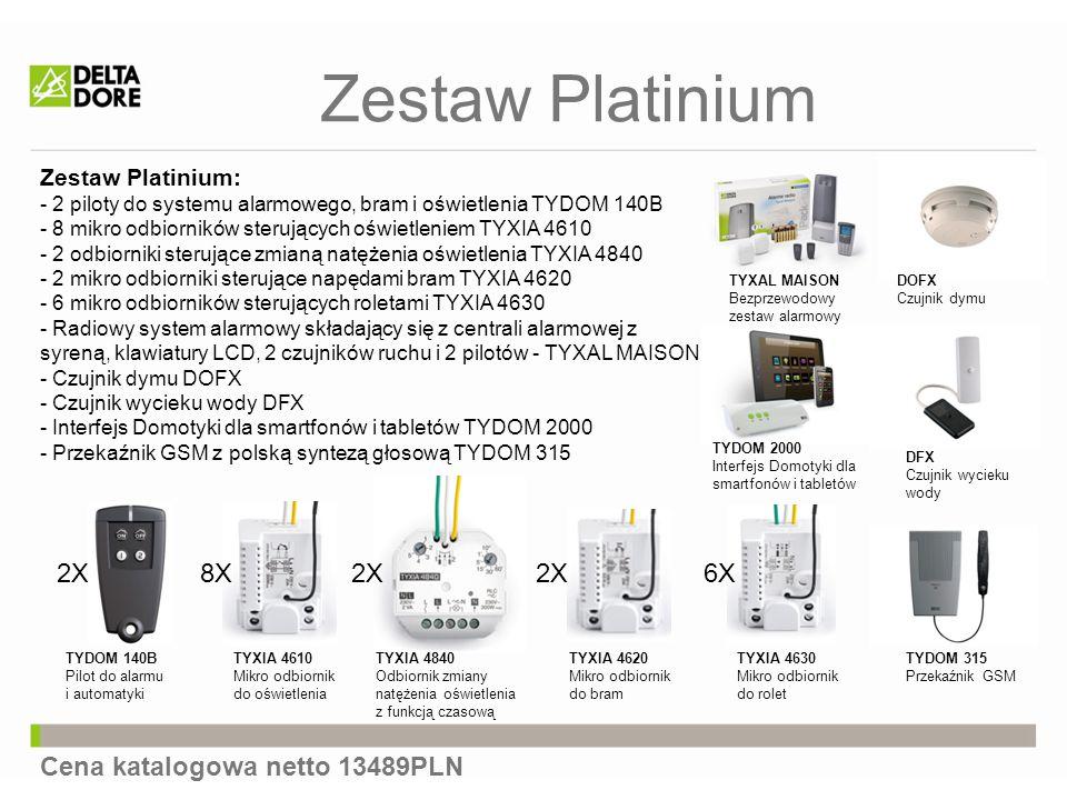 Zestaw Platinium 2X 8X 2X 2X 6X Cena katalogowa netto 13489PLN
