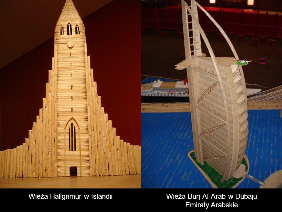 Wieża Hallgrimur w Islandii Wieża Burj-Al-Arab w Dubaju