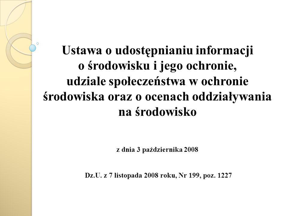 Dz.U. z 7 listopada 2008 roku, Nr 199, poz. 1227