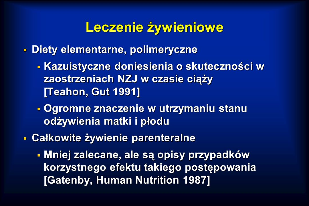 Leczenie żywieniowe Diety elementarne, polimeryczne