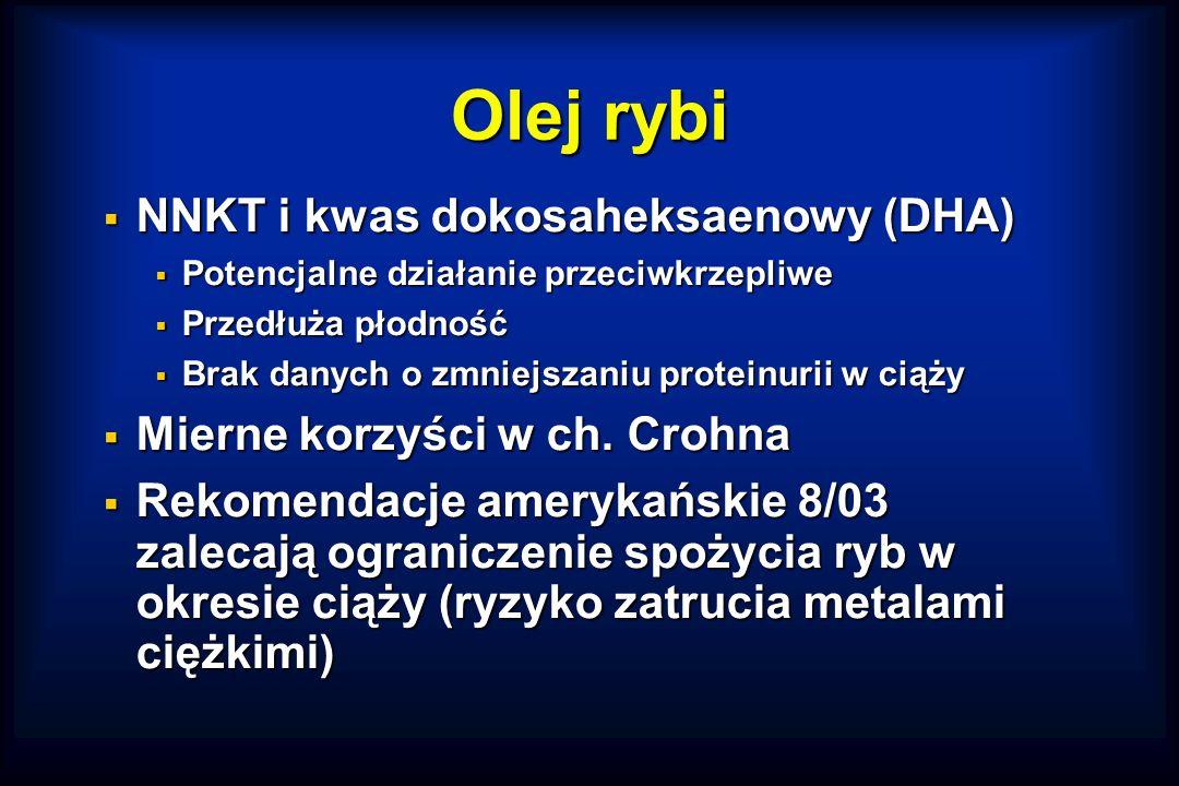 Olej rybi NNKT i kwas dokosaheksaenowy (DHA)
