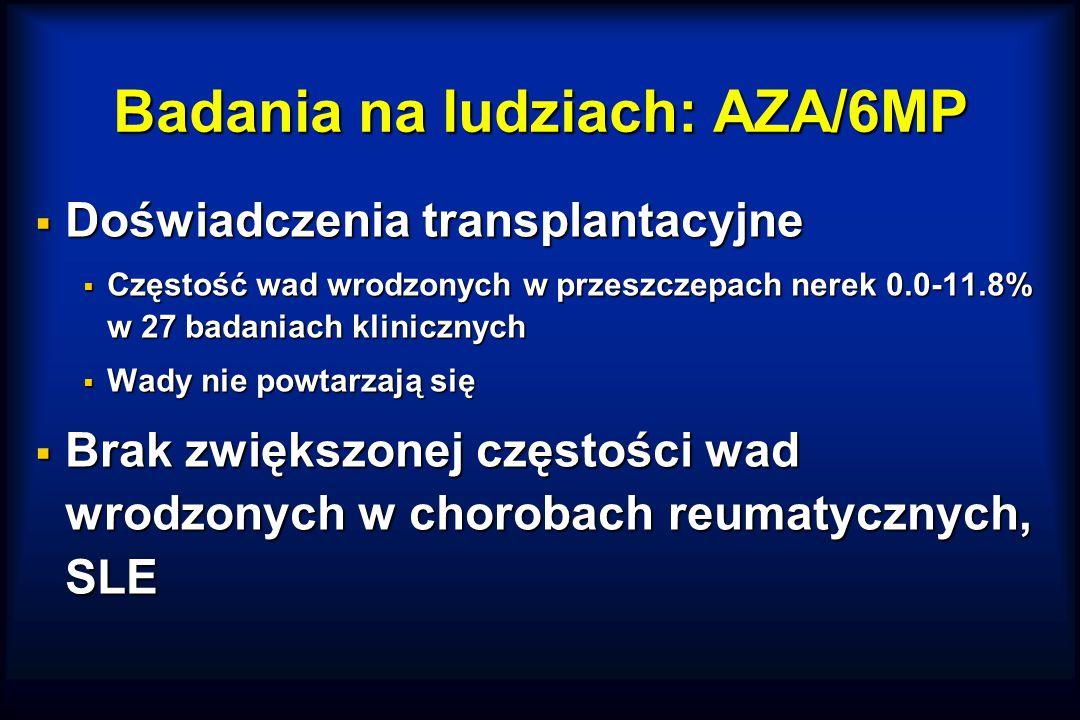 Badania na ludziach: AZA/6MP