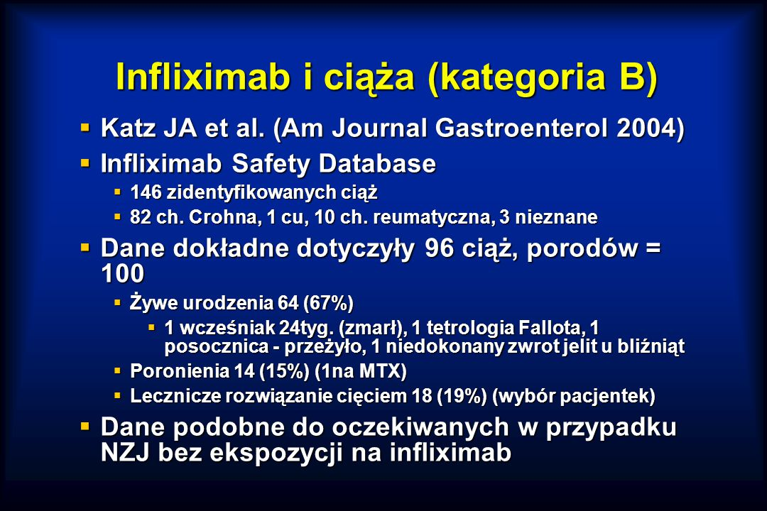 Infliximab i ciąża (kategoria B)