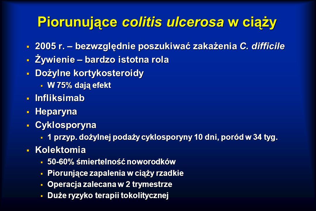 Piorunujące colitis ulcerosa w ciąży