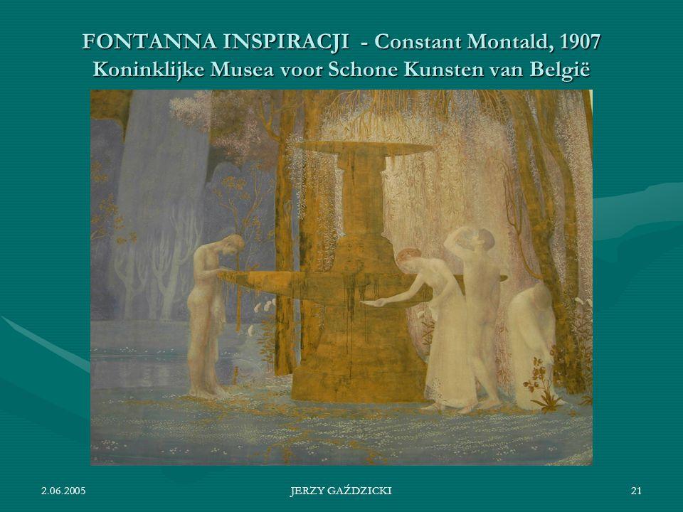 FONTANNA INSPIRACJI - Constant Montald, 1907 Koninklijke Musea voor Schone Kunsten van België